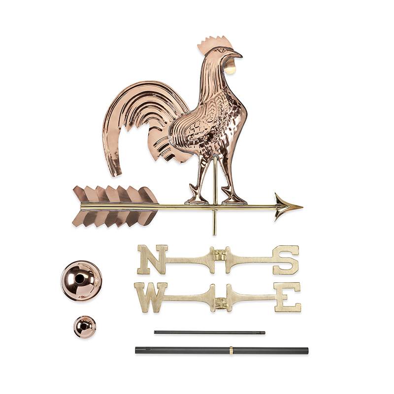 501P_25 Inch_ Rooster_Polished_Components 4