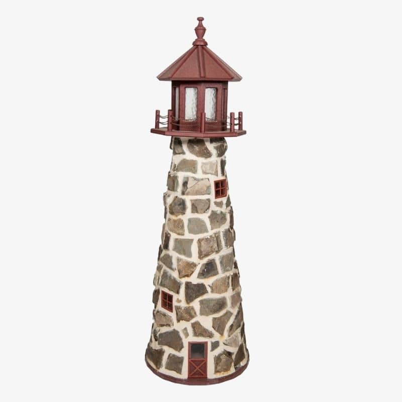 6 foot stone lighthouses