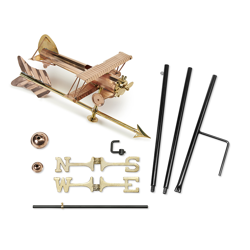 8812PAG_Garden BiPlane with Arrow_Polished_Components 2