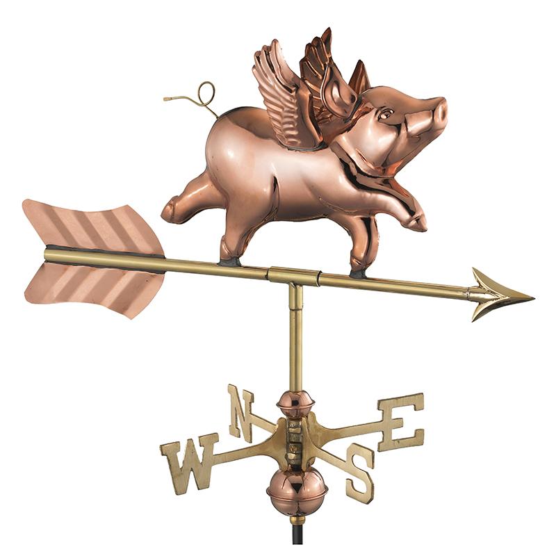 8840PG_Garden Flying Pig_Polished_Silo 1