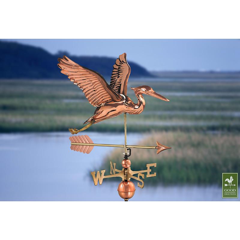 9606PA_Blue Heron with Arrow_Polished_Theme 3
