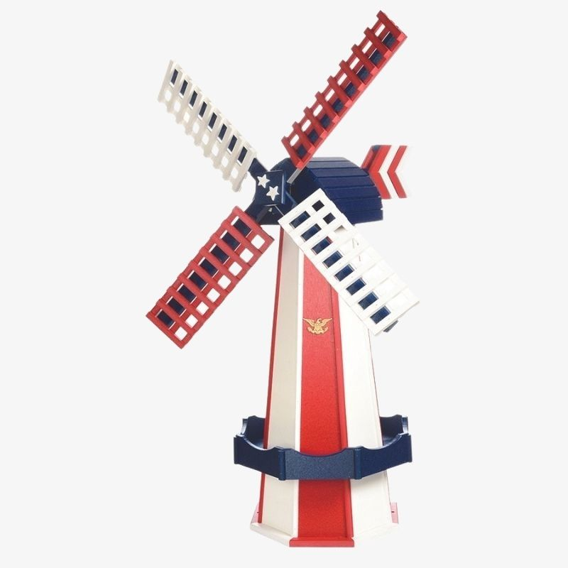 Large Poly Windmill Patriotic Style (1)