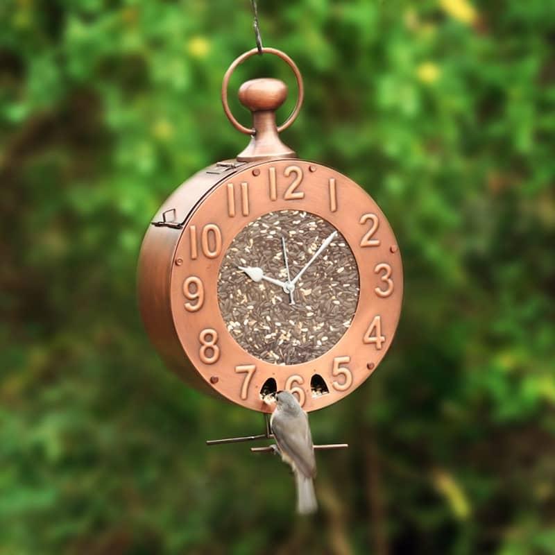 clock bird feeder